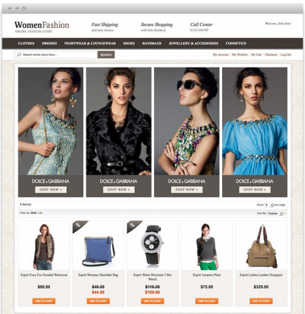 Free Magento Theme Women Fashion