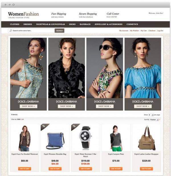 Free Magento Theme Women Fashion