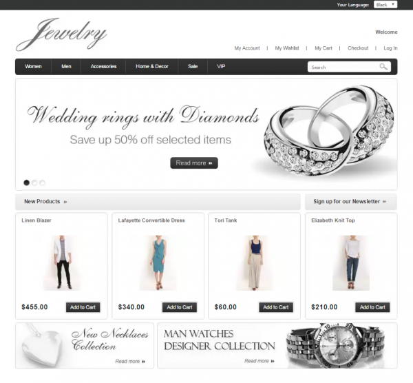 Clean Jewelry Store for Magento