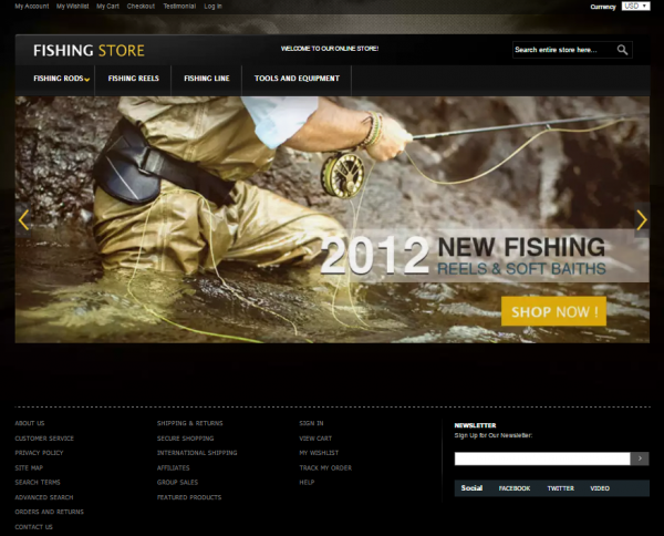 Fishing Store Template
