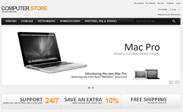 Online electronics Modern Computer Store Theme