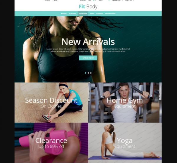 FitBody Fitness Magento Free Theme