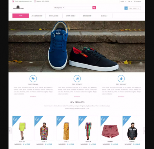 Shoe store Responsive eCommerce Template