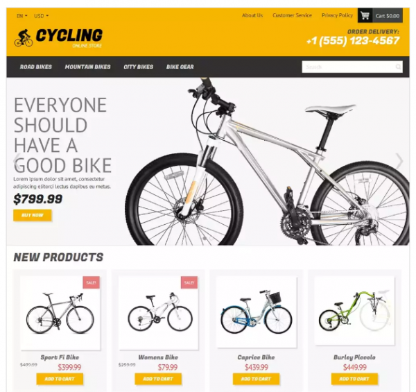 Cycling Magento Theme