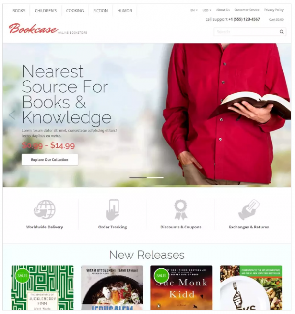 Bookcase Magento Theme