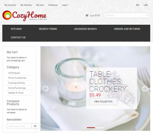 Home Furniture Magento Theme