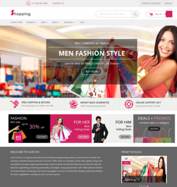 Shopping Frontend Theme for Magento