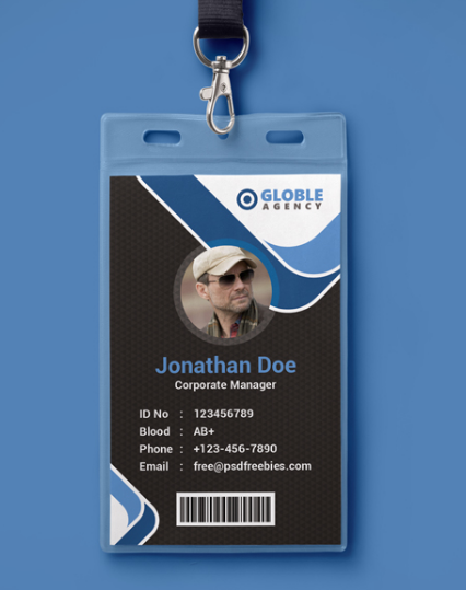 10 Free Employee Id Card Design Templates Mockups