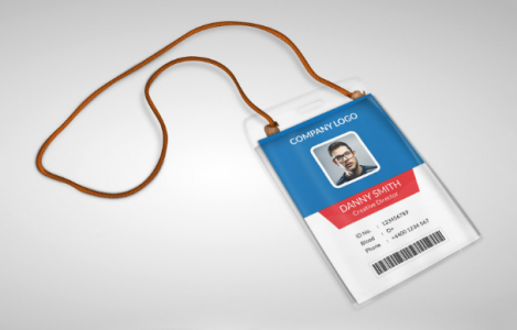 Free Employee ID Card Design Templates Mockups UTemplates - Id badge template photoshop