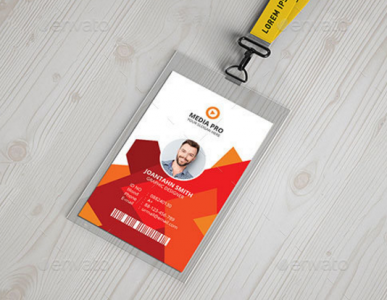 Orange ID Card. Orange ID Card Orange ID Card PSD Template