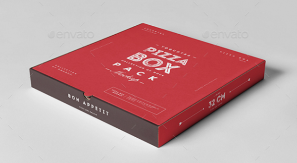 Pizza Box Mockup Template