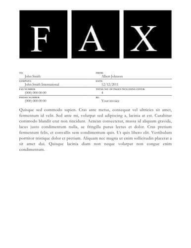 50 Free Fax Cover Sheet Templates