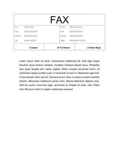 Free Fax Cover Sheet Templates  Word  Pdf   Utemplates