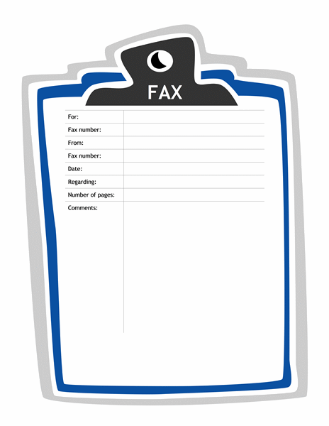 Clipboard Fax Cover Sheet Template