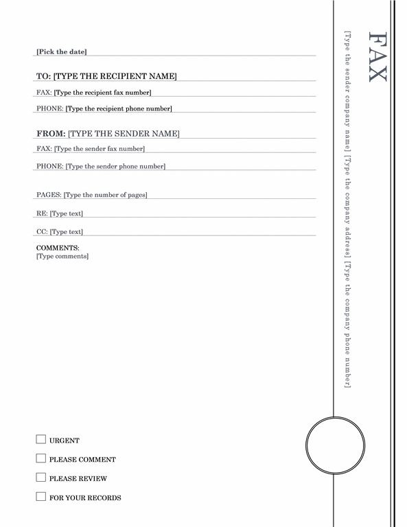 50 Free Fax Cover Sheet Templates Word PDF – Fax Cover Sheet Free Template