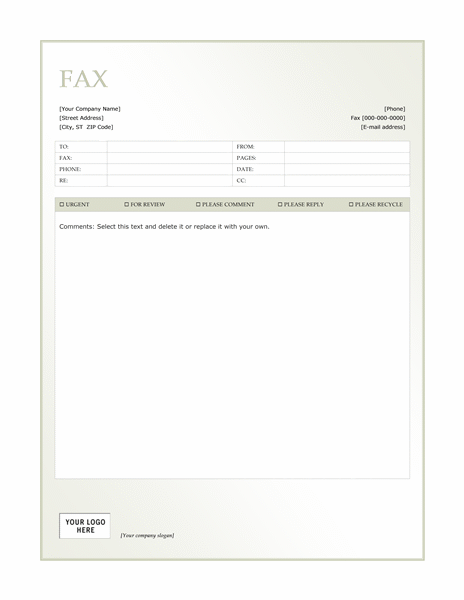 green_gradient_fax_cover_sheet