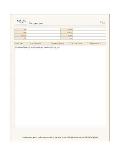 sienna_fax_cover_sheet