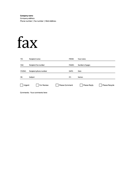professional_fax_cover_sheet