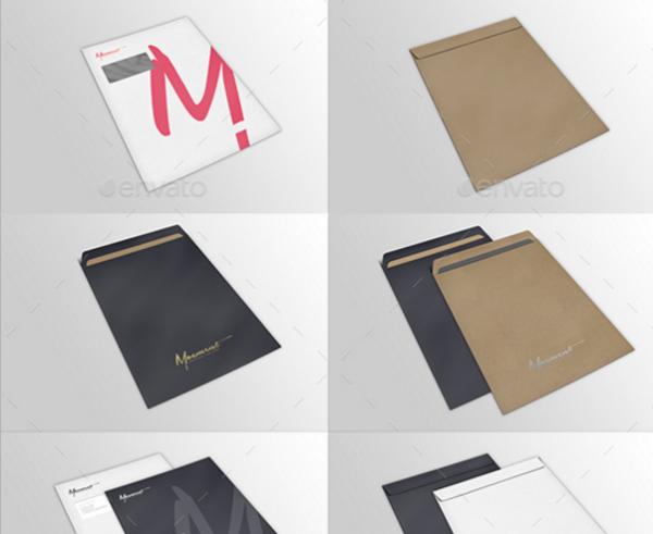 Envelope C4 Mockup