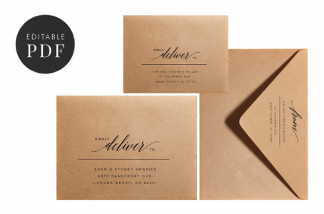 Editable Envelope Template