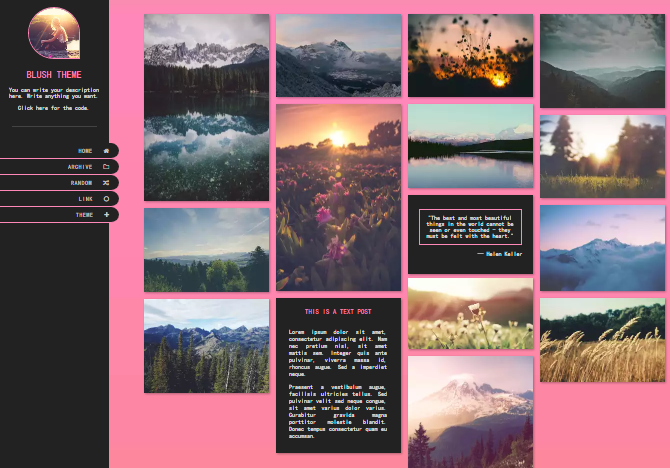 15 Nice Girly Tumblr Themes | UTemplates