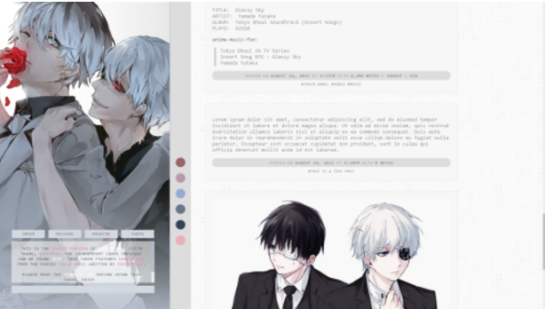 15 free anime tumblr themes utemplates 16asphyxia voltagebd Gallery