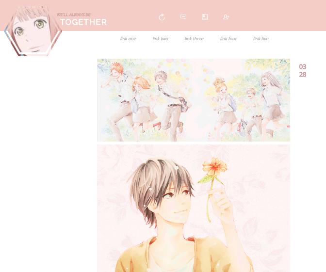 8Orange Anime Tumblr Theme