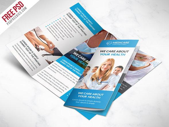 medical_care_and_hospital_trifold_brochure_template_free_psd