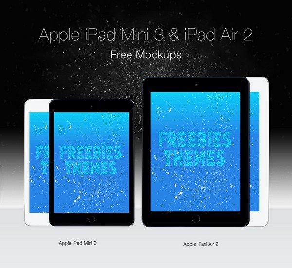 apple_ipad_mini_ve_ipad_air_2_siyahbeyaz_screen mockup_psd