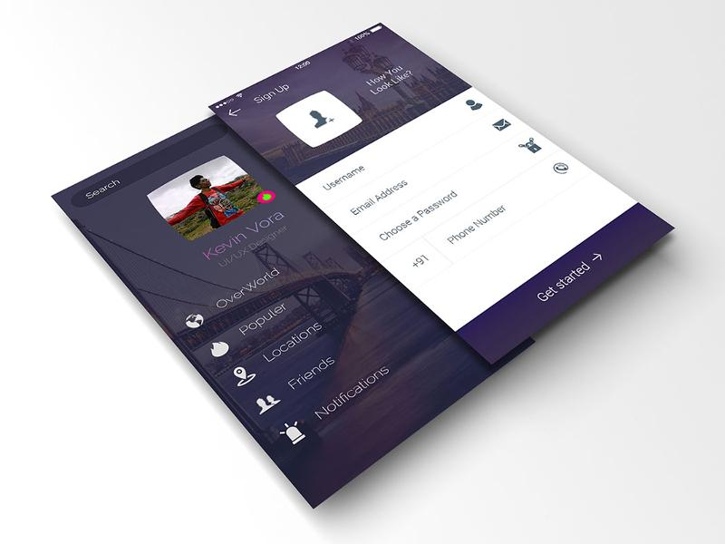 awesome_login_and_profile_app_mockup_for_free