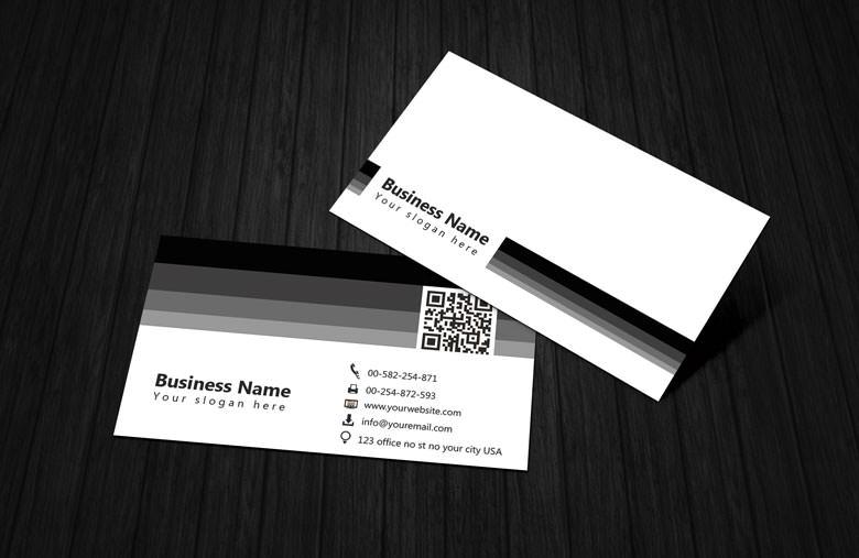 Download 60 free business card templates utemplates black white business card template wajeb Gallery