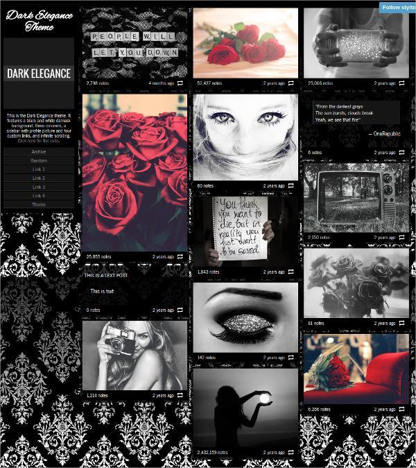20 elegant  u0026 free dark tumblr themes