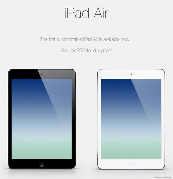 ipad_air_customizable screen_psd