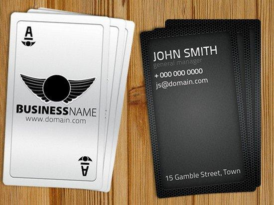 playing_card_business_card_free_template