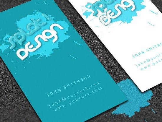 splat_business_card_with_psd
