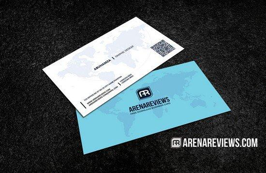 world_map_professional_business_card_template