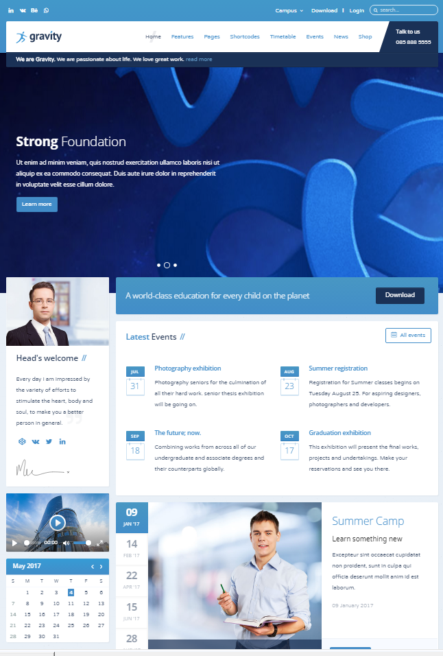 15 best free joomla education templates utemplates 14gravity joomla education template maxwellsz