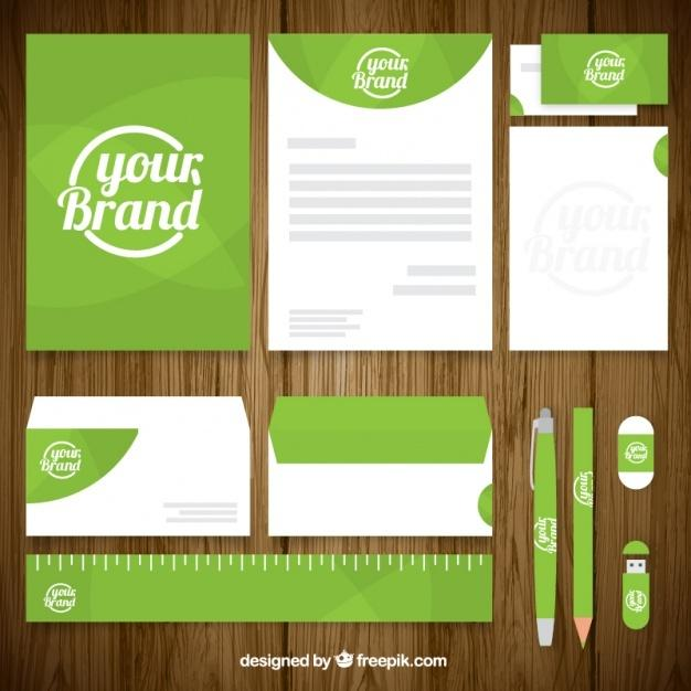 business_stationery_pack_in_green_color
