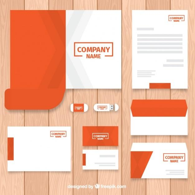collection_of_business_stationery_template_in_orange_color
