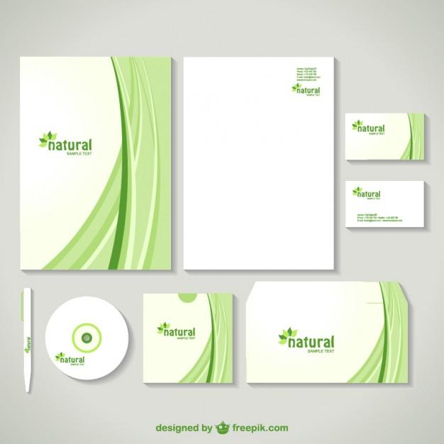 corporate_image_design_in_green_with_curves