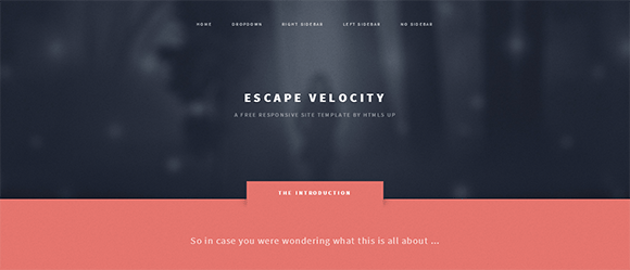 escape_velocity_responsive_web_template