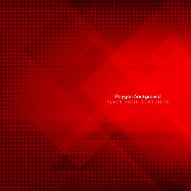 polygonal_red_background
