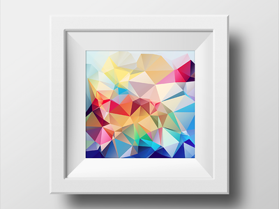 lowpoly_polygonal_framed_picture