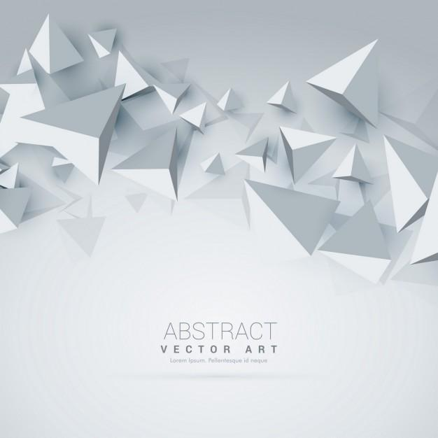 white_background_with_3d_polygons