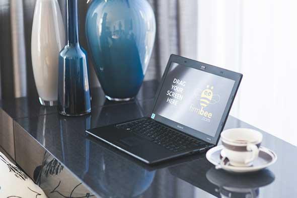 home_office_desk_sony_laptop_coffee