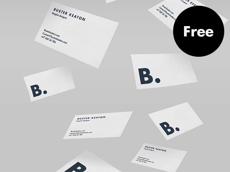 20 business card mockups utemplates free floating business card mockup psd reheart Images