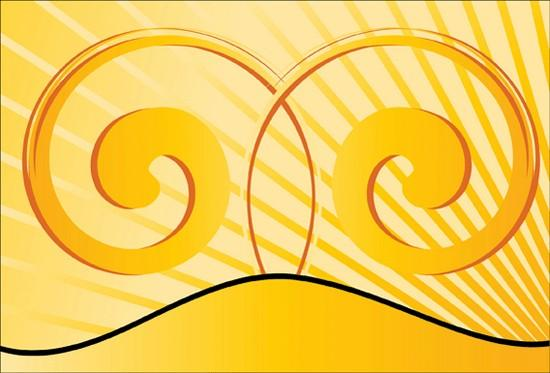yellow_swirl_background_vector