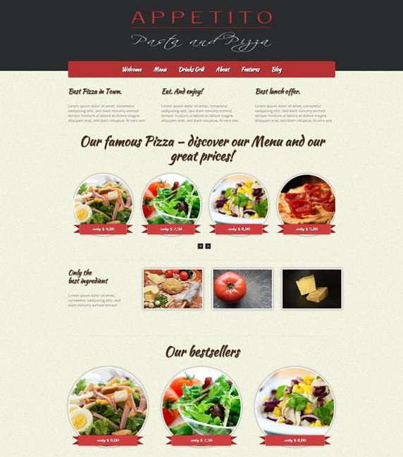 Appetito wordpress pizza theme