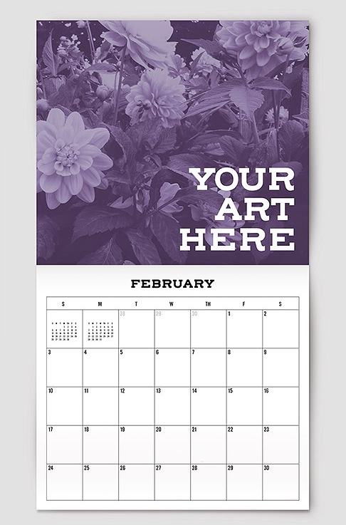 Super Easy Calendar Mockup Template