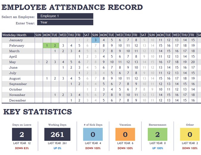 25 Printable Attendance Sheet Templates Excel Word Utemplates